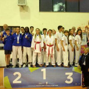 Karate, al Trofeo Coni Federico Papagni trascina tutta la squadra alla vittoria