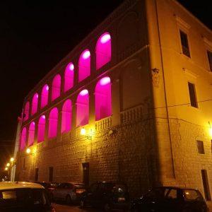 """Prevenzione tumore seno, Palazzo San Domenico e il teatro """"Garibaldi"""" illuminati di rosa"""
