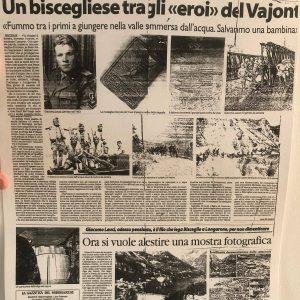 Nell'anniversario della tragedia del Vajont, il ricordo di un biscegliese che salvò vite umane