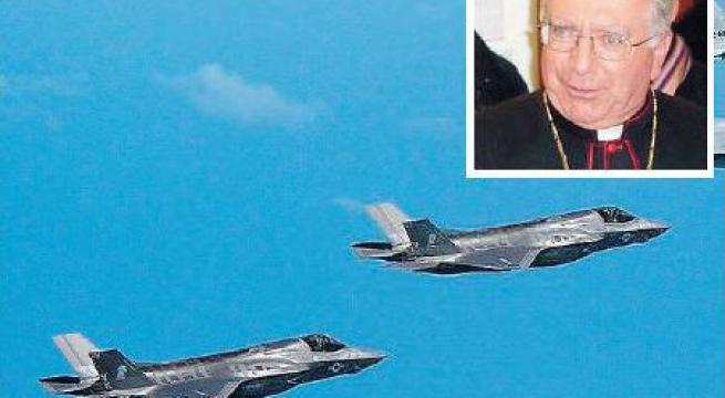 Mons. Ricchiuti: «Stop ai velivoli F-35 e alle armi nucleari». L'appello di Pax Christi: «Siamo nell'Avvento, l'alba di giorni e di tempi giusti e pacifici»