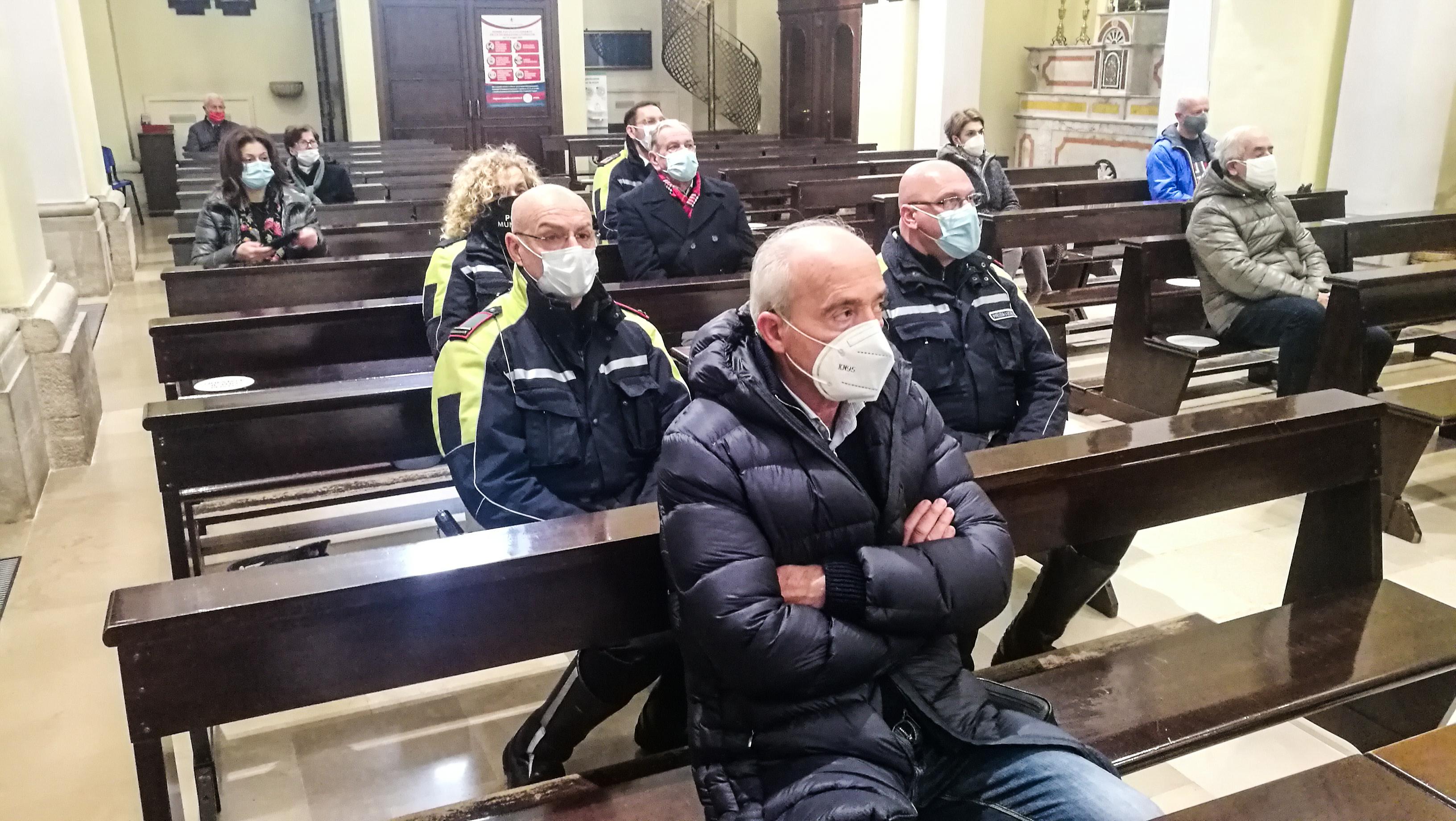 San Sebastiano, celebrata messa in onore del patrono della Polizia Locale (le foto)