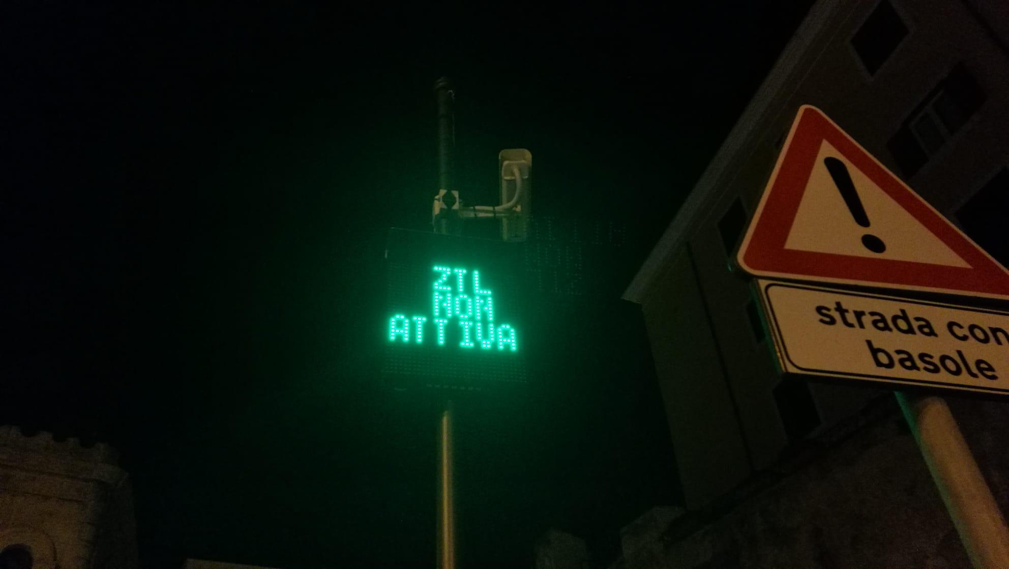Torna a funzionare la Ztl di via Trento