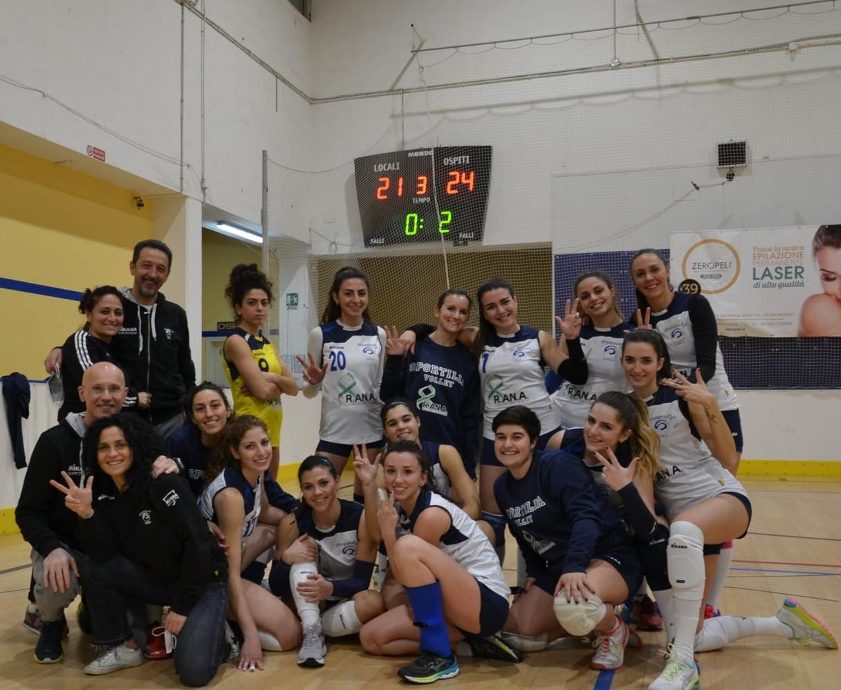 """Volley, serie C: Sportilia Bisceglie """"corsara"""" al PalaFiorentini, arriva il terzo successo di fila"""