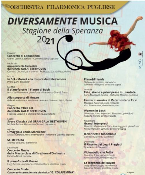 """L'Orchestra Filarmonica Pugliese presenta la """"Stagione della Speranza"""""""