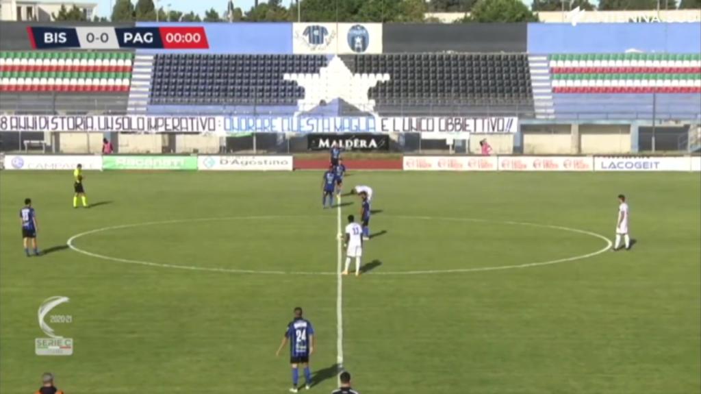 Playout di Serie C, nell'andata con la Paganese tre punti al Bisceglie (2-1). Fra sette giorni il ritorno