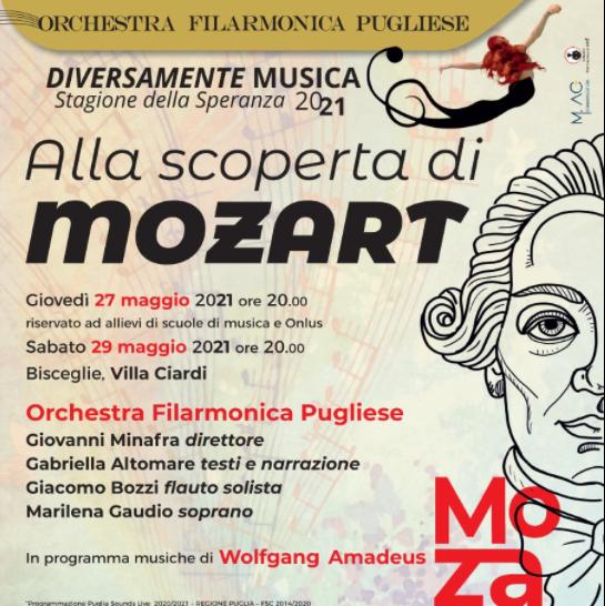 """""""Alla scoperta di Mozart"""", oggi a Villa Ciardi per la stagione Diversamente Musica"""