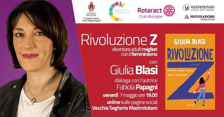 """Il 7 maggio la presentazione del libro """"Rivoluzione Z"""" di Giulia Blasi"""