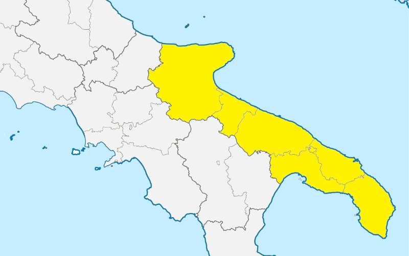 La Puglia torna in zona gialla dopo due mesi