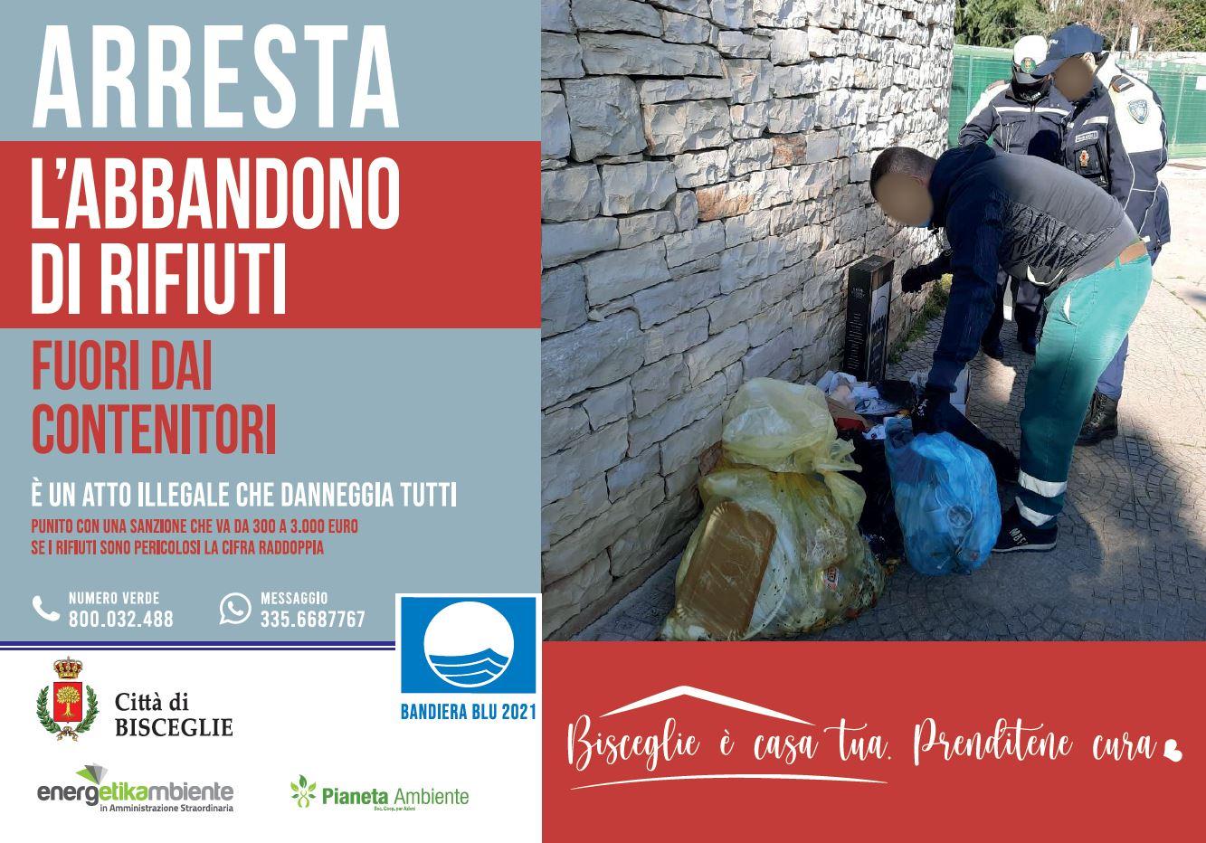 Rifiuti, Angarano e Naglieri: «La cittadinanza collabori a salvaguardare l'ambiente»