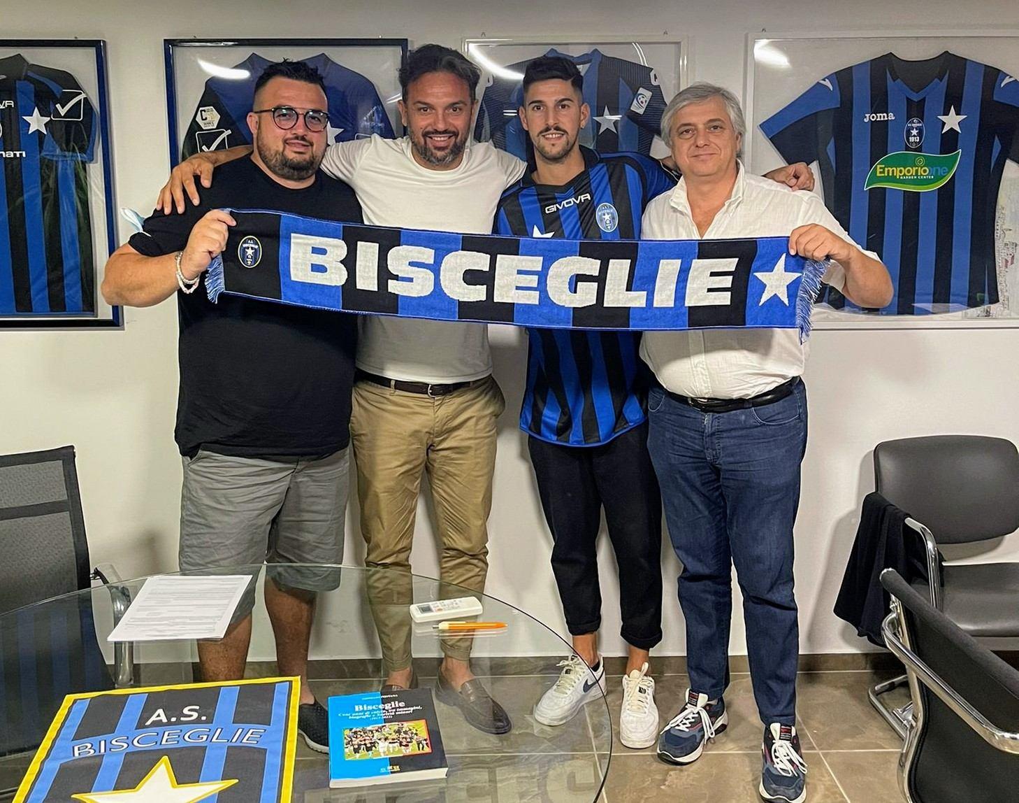 Bisceglie Calcio, è l'attaccante Leonetti il colpo di Ferragosto