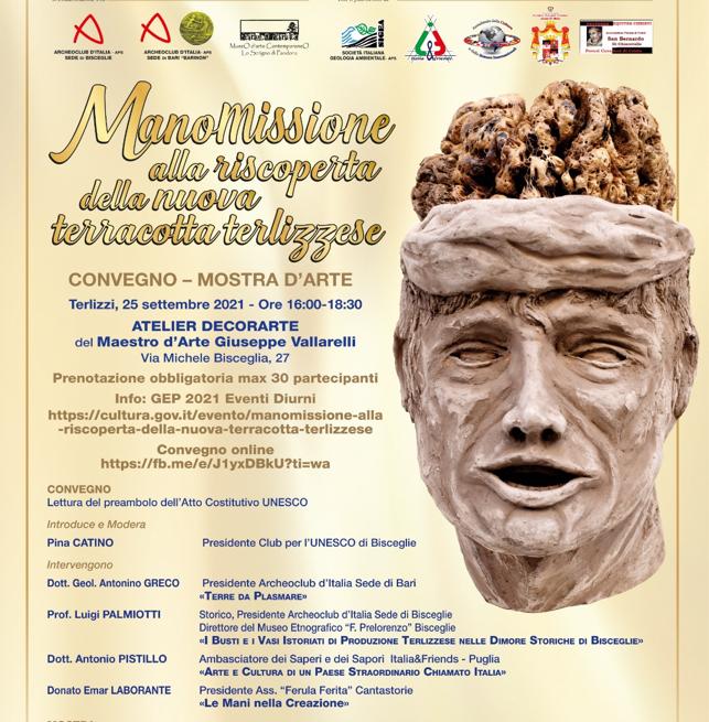 La Giornata Europea del Patrimonio 2021. A Terlizzi Convegno/Mostra d'Arte con un Club Unesco di Bisceglie