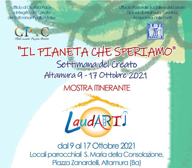 """Settimana del Creato, """"Il Pianeta che speriamo"""": Club per l'UNESCO di Bisceglie in esposizione nella Mostra itinerante di """"LaudArti"""""""